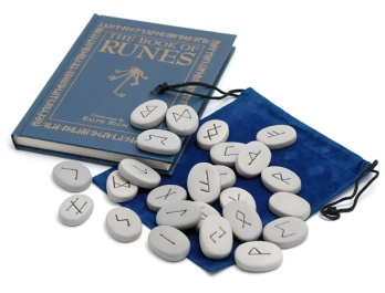 The Book of Runes Divination Set - Hard Cover Book and Runes - Click To Order