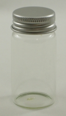 Clear Glass Tube Bottle with Alu Screw Lid - 40ml