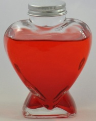 Heart Shape Clear Glass Bottle with Alum Screw Lid - 225ml