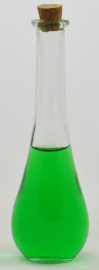 Poison Teardrop Clear Glass Bottle with cork seal - 120ml