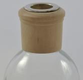 Wooden Diffuser Collar - Natural Colour - Example Holding Reed Sticks in your oil diffuser bottle for a nice decorative finish