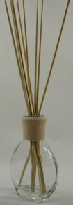 Oil Diffuser Example - Set Up with Our Elixir Bottle, Natural Diffuser Collar and Reed Sticks