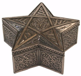 Celtic Pentagram Shaped Trinket Box - Click for Detail View