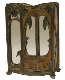 Art Nouveau designed by Veronese - 3 Mirrored Jewellery Cabinet - Click for Detail View