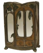 Art Nouveau designed by Veronese - 3 Mirrored Jewellery Cabinet - Click For More