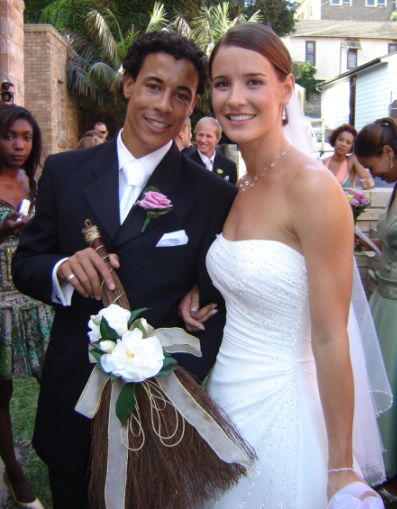 Happy Couple - Wedding 2005 - Jumping Over The Broom Ceremony - One of our Cinnamon Brooms - Thankyou for sharing