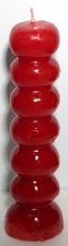 7 Knob Wishing Candle - Red