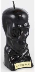 Ritual Skull Candle - Reversible - Black Outside and Red Wax Inside