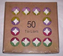 Tealight Candles - Mixed Colours - 5hour burning time - Pack of 50 - Click for Detail