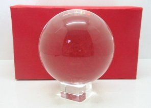 Click for larger image - 110mm crystal ball with stand