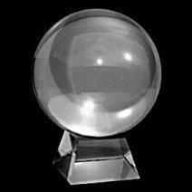 140mm Large Clear Crystal Ball with Stand - Click for larger image