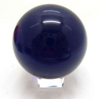 Purple 50mm Crystal Ball with Stand - Click for larger image