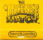 French Vanilla Incense Match Books - a unique altar or table item