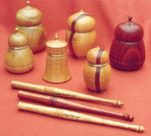 Natural Ink Pots and Matching Nib Pens made from Australian Woods - Hand Crafted - Click for Detail