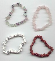 A selection of Natural Crystal Braclets
