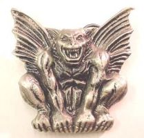 Gargoyle Belt Buckle - Solid Pewter - Click for More BODY JEWELLERY