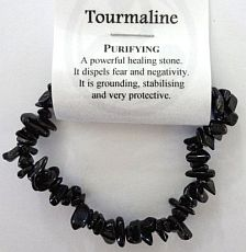 Tourmaline Crystal Chip Bracelet - Purifying