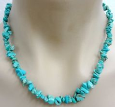 Blue Howlite Crystal Chip Necklace