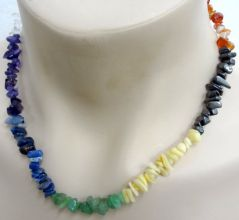 Chakra Crystal Chip Necklace - 7 Gems