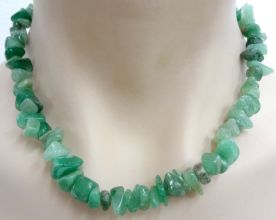 Aventurine Crystal Chip Necklace - Chunky Size
