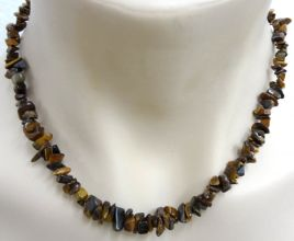 Tiger Eye Crystal Chip Necklace
