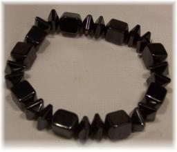 Click For Detail View - Magnetic Hematite Bracelet with Box Beads - One Size Fits All