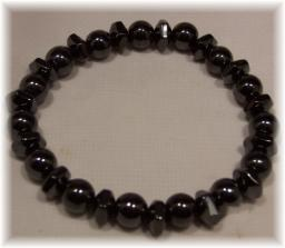 Click For Detail View - Magnetic Hematite Bracelet with Round Beads - One Size Fits All