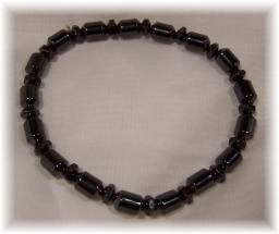 Click For Detail View - Magnetic Hematite Bracelet with Tube Beads - One Size Fits All