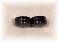 Click For Detail View - Healing Magnetic Hematite Ear Magnets Studs - One Size Fits All - SIDE VIEW