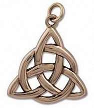 Triquetra Gypsy Witch Pendant - Bronze - Click for More CELTIC JEWELLERY