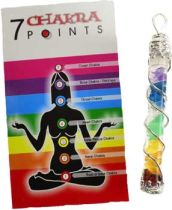 Chakra Spire Pendant - features 7 gemstones representing the 7 chakras