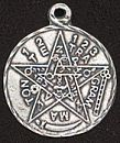 Tetragrammaton Pentagram Pendant - Lead Free Pewter - Click for More PENTAGRAM JEWELLERY