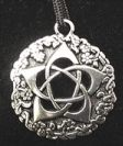 Pentacle Of The Goddess Pendant - Double Sided - Pewter - Comes on Black Cord - Click for detail VIEW