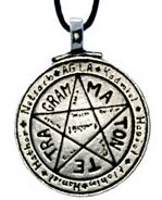 Tetragrammaton or Levi Pentacle Pendant- Pewter - Comes on Black Cord - Click for detail VIEW