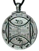 Animals 'Communication With All Creatures' Talisman on Black Cord - Pewter