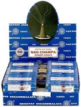 Nag Champa Export Quality Incense Dhoop Cones - Display Box