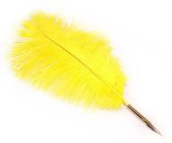 Fluffy Canary-Yellow Quill with Removable Gold Nib