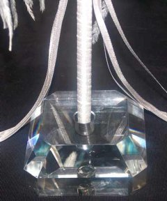 Clear Crystal Pen Stand - Solid and Heavy - Click for Detail