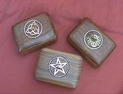Handcarved boxes by MasterCraftsman ShadowSmith - click for detail view