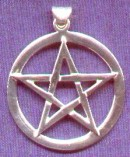 photo of Sterling Silver Pentagram in Circle pendant by ShadowSmith - click for detail view