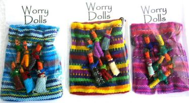 Worry Dolls - A bag of 6 tiny worry dolls to take all your worries away! - Click for larger view